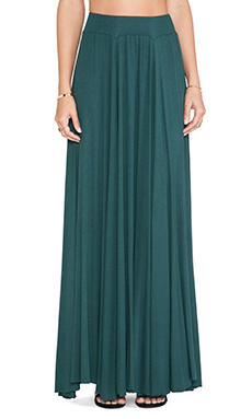 Rachel Pally Rib Seam Maxi Skirt in Hunter