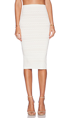 Rachel Pally Pointelle Pencil Skirt in Ivory