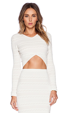 Rachel Pally Pointelle Crop Top in Ivory