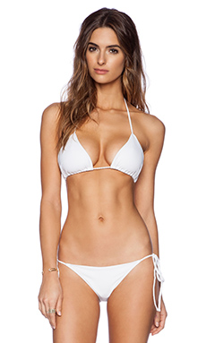 Rachel Pally Palau Bikini Top in White