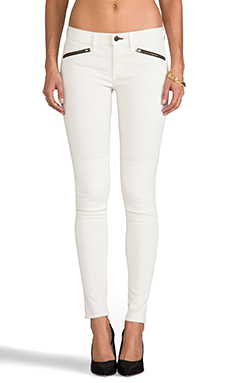 rag & bone/JEAN Ridley Moto Jean in Winter White