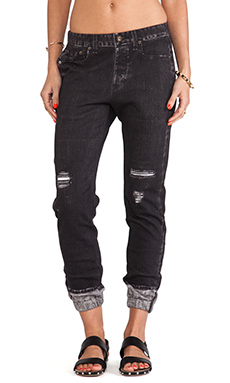 rag & bone/JEAN Miramar Pajama Jean in New Rock with Holes