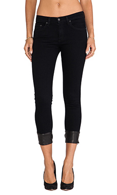 rag & bone/JEAN Buckle Capri in Coal