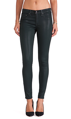 rag & bone/JEAN The Legging in Coated Green Gables