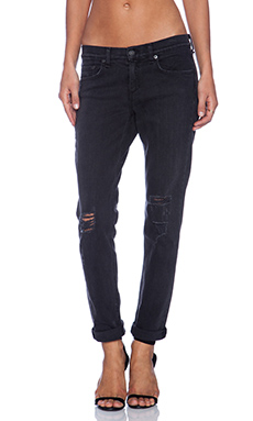 rag & bone/JEAN Boyfriend Jean in Rock with Holes