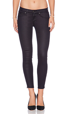 rag & bone/JEAN Exposed Zipper Capri in Seal