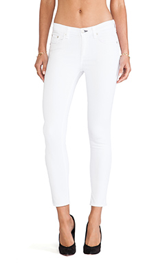 rag & bone/JEAN The Capri in Bright White