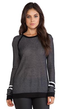 rag & bone/JEAN Martina Striped Pullover in Black