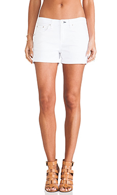 rag & bone/JEAN Boyfriend Short in Aged Bright White