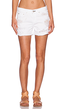 rag & bone/JEAN Boyfriend Short in Rebel Bright White