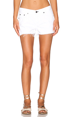 rag & bone/JEAN The Cutt-Off Short in Bright White