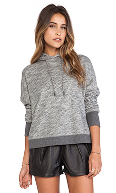 rag & bone/JEAN Murphy Hoodie in Heather Grey