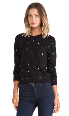 rag & bone/JEAN Splatter Paint Sweatshirt in Black