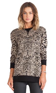 rag & bone/JEAN Amoeba Print Sweatshirt in Black