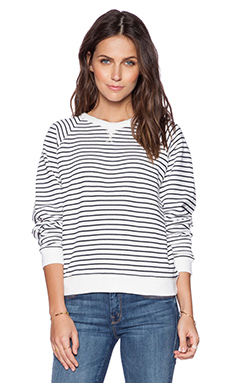 rag & bone/JEAN Glenna Sweatshirt in French Stripe