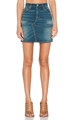 rag & bone/JEAN Mini Skirt in Distressed