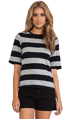 rag & bone/JEAN The Carey Tee in Heather Stripe