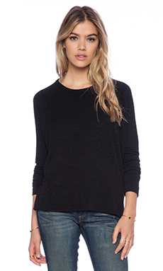 rag & bone/JEAN Camden Long Sleeve Tee in Black