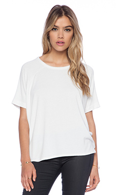 rag & bone/JEAN Camden Short Sleeve Tee in Bright White