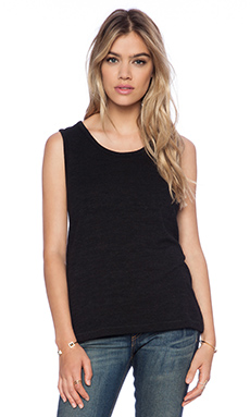 rag & bone/JEAN Boyfriend Tank in Black