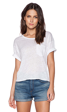rag & bone/JEAN Deal Crop Tee in Off White