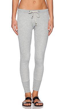 Ragdoll Skinny Long John Sweatpant in Light Grey Melange