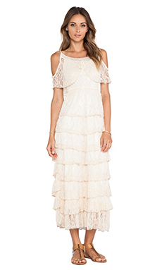 Raga Lace Maxi Dress in Champagne