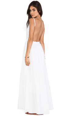 Raga Backless Maxi Dress in White