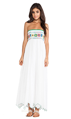 Raga Strapless Maxi Dress in White