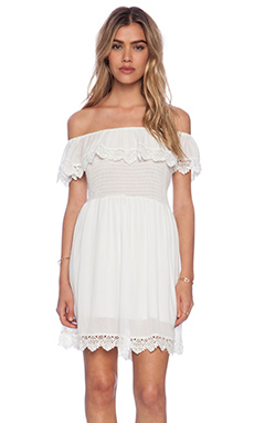 Raga Lace Mini Dress in White