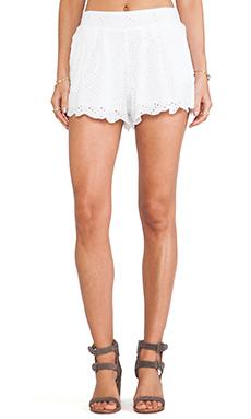Raga Flutter Shorts in White