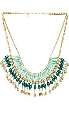 Raga Bead Drop Necklace in Aqua