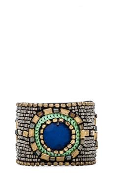 Raga Beaded Bracelet in Pewter