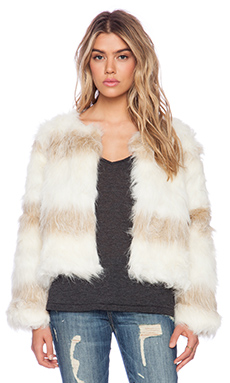 Raga Faux Fur Jacket in Natural