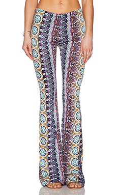 Raga Ashbury Wide Leg Printed Pant in Purple