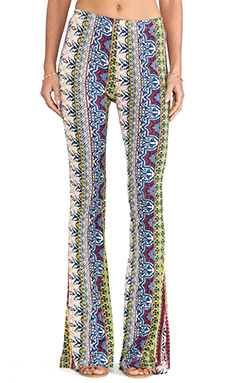 Raga Wide Leg Printed Pants in Multi