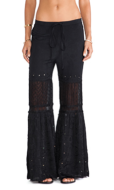 Raga Wide Leg Pant in Black