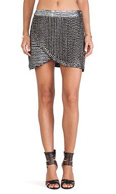 Raga Embellished Cross Over Mini Skirt