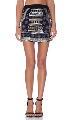 Raga Embellished Mini Skirt in Multi