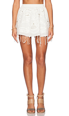 Raga Nomad Mini Skirt in Eggshell