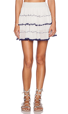 Raga Lucy Mini Skirt in Eggshell