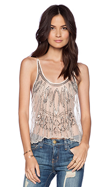 Raga Embellished Tank in Cloud Pink