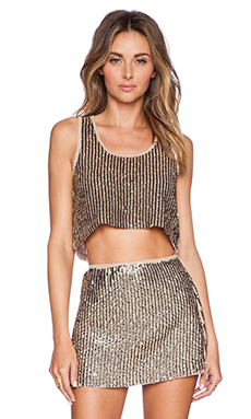 Raga Glitz & Glam Crop Top in Brown