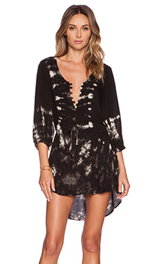 Raga Smoke Long Sleeve Tunic in Black