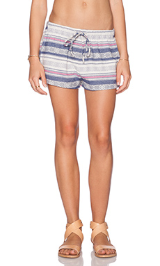 Rails Heidi Short in White & Blue & Pink