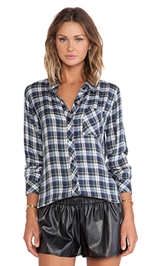 Rails Hunter Button Down in Blue & Ivy