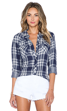 Rails Kendra Button Down in Indigo & White