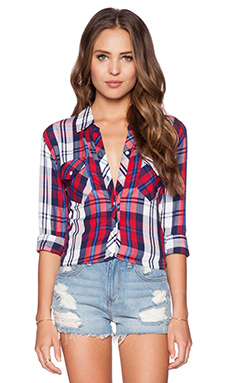 Rails Carmen Button Down in Cherry & Navy