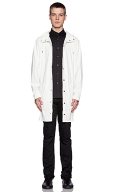 Rains Long Jacket in White