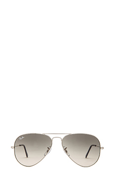 Ray-Ban Aviator with Mirrored Lens in Silver